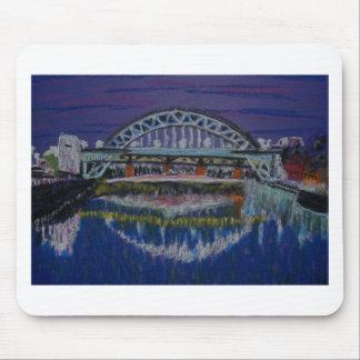 Tyne Bridges at night Mouse Pad