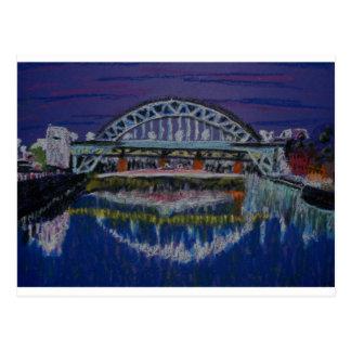 Tyne Bridges at night Post Cards
