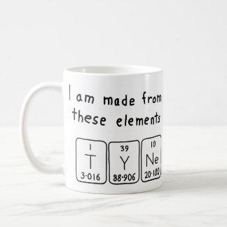 Tyne periodic table name mug