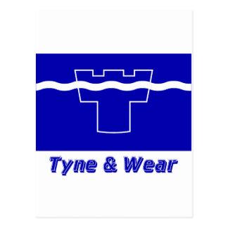 Tyne y bandera del desgaste con nombre postal