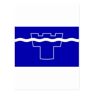 Tyne y bandera del desgaste tarjetas postales