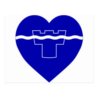 Tyne y corazón de la bandera del desgaste postal