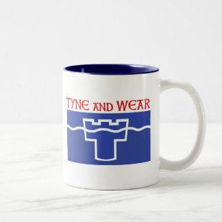 Tyne y desgaste tazas de café
