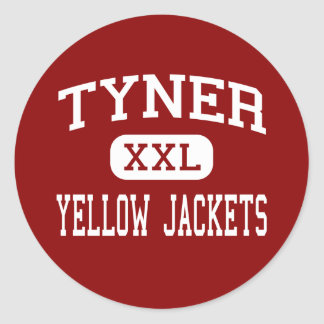 Tyner - chaquetas amarillas - centro - Chattanooga Etiquetas Redondas