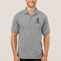 Type 1 Diabete Awareness Ribbon with Swans Polo Shirt