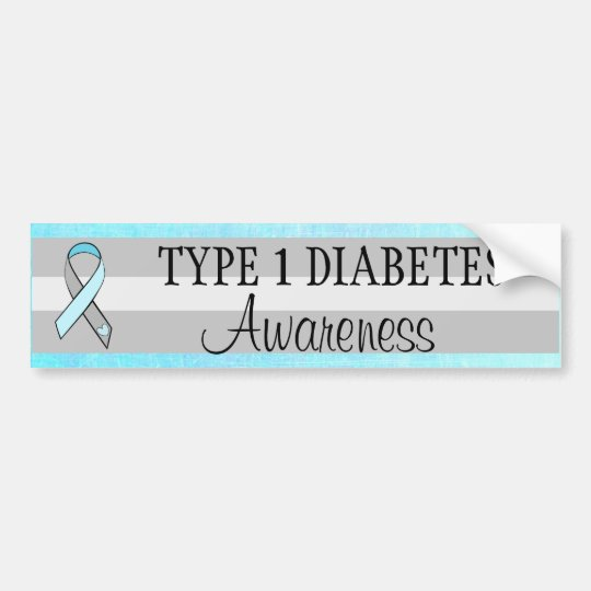 Type 1 diabetes awareness bumper sticker