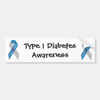 Type 1 Diabetes Awareness Bumper Sticker Car Bumper Sticker