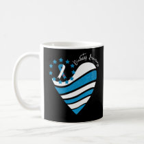 Type 1 Diabetes Awareness Heart Ribbon Coffee Mug