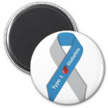 Type 1 Diabetes Awareness Ribbon 2 Inch Round Magnet