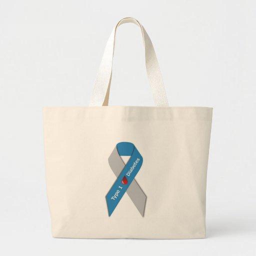 Type 1 Diabetes Awareness Ribbon Canvas Bag
