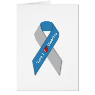 Type 1 Diabetes Awareness Ribbon Card