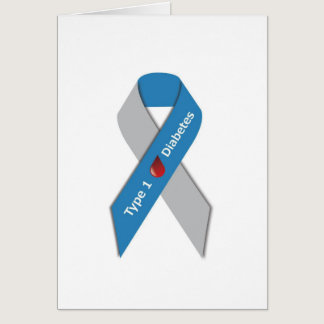 Type 1 Diabetes Awareness Ribbon Card