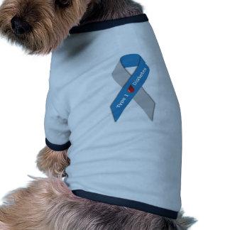 Type 1 Diabetes Awareness Ribbon Pet T Shirt