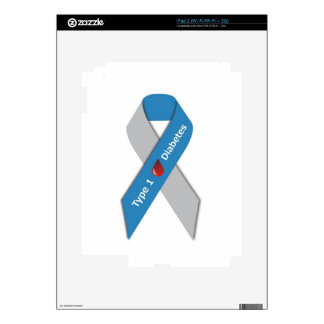 Type 1 Diabetes Awareness Ribbon iPad 2 Skins