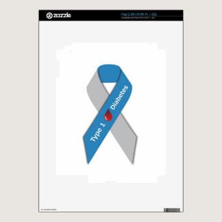 Type 1 Diabetes Awareness Ribbon iPad 2 Skins