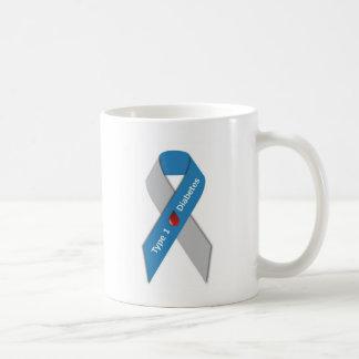 Type 1 Diabetes Awareness Ribbon Classic White Coffee Mug