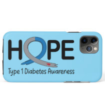 Type 1 Diabetes Awareness Ribbon of Hope iPhone 11 Pro Max Case