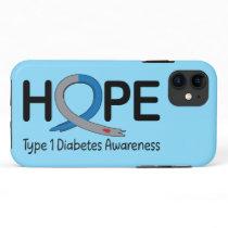 Type 1 Diabetes Awareness Ribbon of Hope iPhone 11 Case