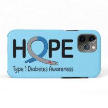 Type 1 Diabetes Awareness Ribbon of Hope iPhone 11 Pro Case