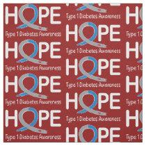 Type 1 Diabetes Awareness Ribbon of Hope Fabric