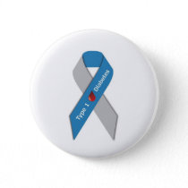 Type 1 Diabetes Awareness Ribbon Pinback Button