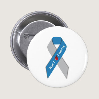 Type 1 Diabetes Awareness Ribbon Pinback Button