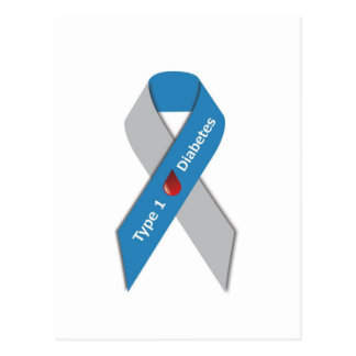 Type 1 Diabetes Awareness Ribbon Postcard