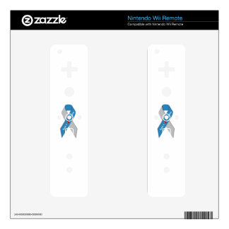 Type 1 Diabetes Awareness Ribbon Decal For The Wii Remote