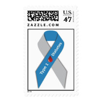 Type 1 Diabetes Awareness Ribbon Stamps