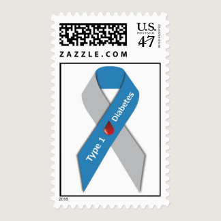 Type 1 Diabetes Awareness Ribbon Stamps