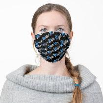 Type 1 Diabetes Blue Ribbon Awareness Adult Cloth Face Mask