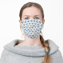 Type 1 Diabetes Blue Ribbon Awareness Cloth Face Mask