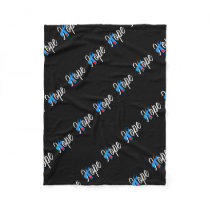 Type 1 Diabetes Blue Ribbon Awareness HOPE Fleece Blanket