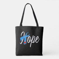 Type 1 Diabetes Blue Ribbon Awareness HOPE Tote Bag