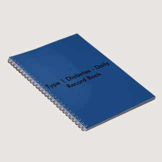 Type 1 Diabetes Daily Record Book