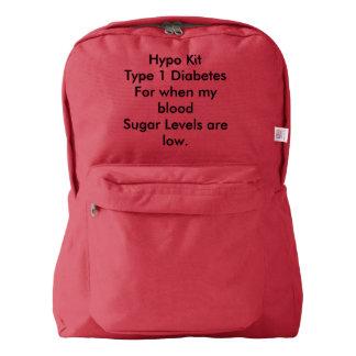 Type 1 diabetes hypo rucksack american apparel™ backpack