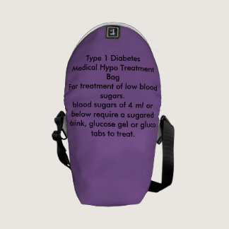Type 1 Diabetes Hypo Treatment bag