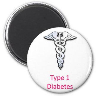 Type 1 Diabetes pink Magnet