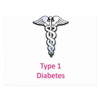 Type 1 Diabetes pink Postcard