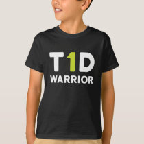 type 1 diabetes warrior - t1d diabetic shirt kids