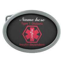 Type 1 Diabetic Insulin Dependent Alert Belt Buckle