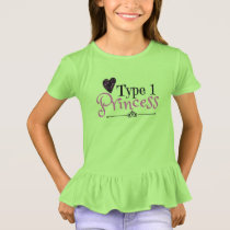 Type 1 Princess: Shirt for Type 1 Diabetic Kids