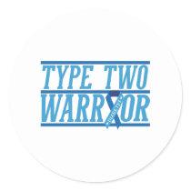 Type 2 Diabetes warrior Classic Round Sticker