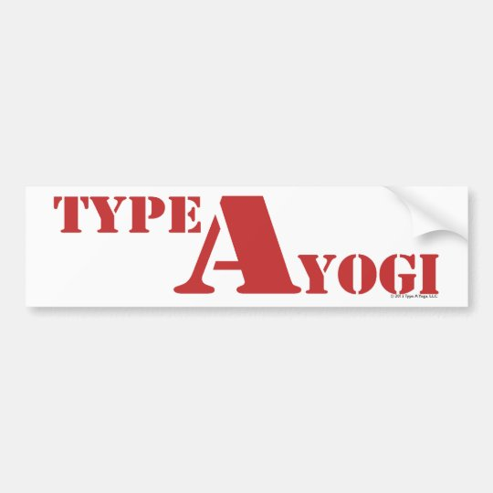 Type A Yogi gear Bumper Sticker