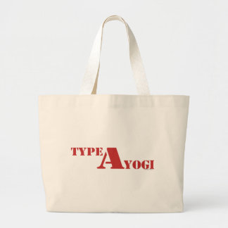 Type A Yogi gear Large Tote Bag