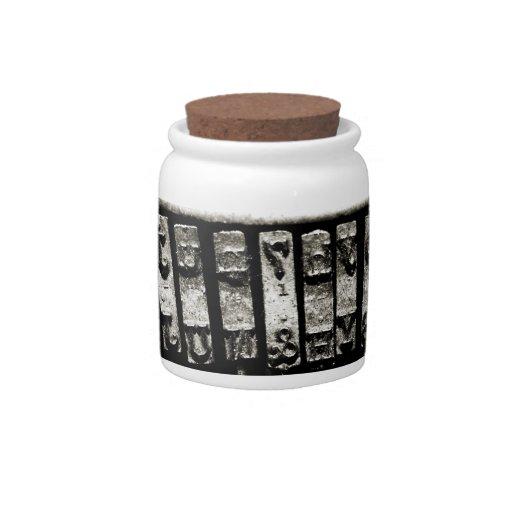 Type Candy Jar