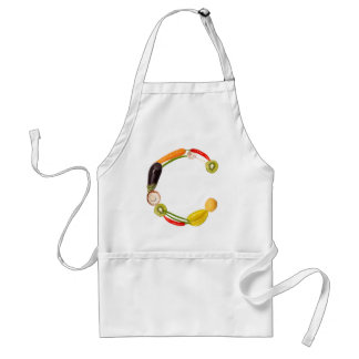 "type character ""C"" OF fruits and vegetables Adult Apron"