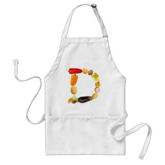"type character ""D"" OF fruits and vegetables Adult Apron"