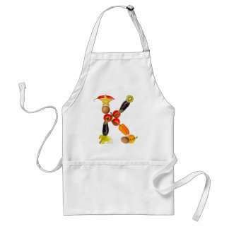 "type character ""K"" OF fruits and vegetables Adult Apron"