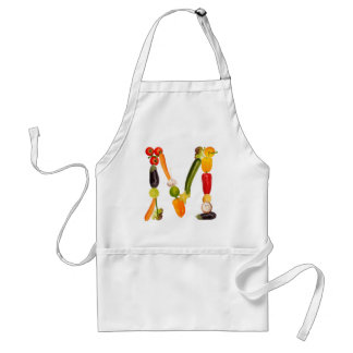 "type character ""M"" OF fruits and vegetables Adult Apron"